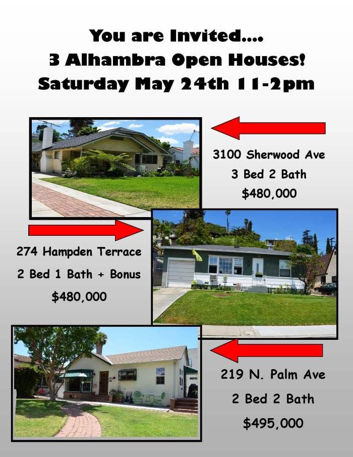3 Open Houses