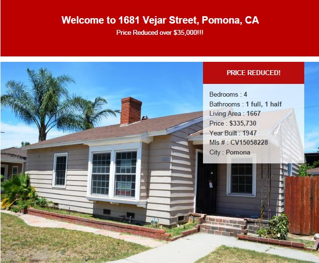 1681 vejar street pomona ca is for sale southern for Foreclosed homes in southern california